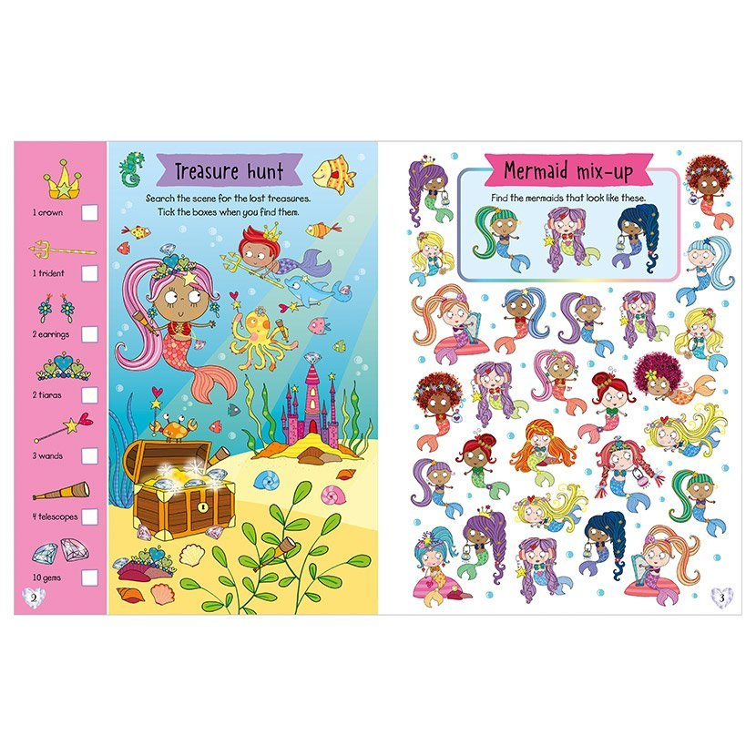 First Spread of Scratch and Sparkle Mermaids Activity Book (9781789472455)