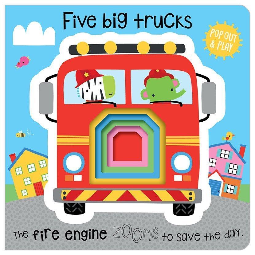 First Spread of Five Big Trucks (9781786923844)