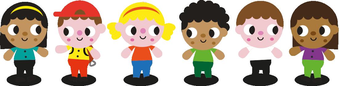Line of children illustration
