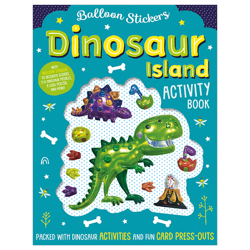First Spread of Balloon Stickers Dinosaur Island Activity Book (9781788437103)
