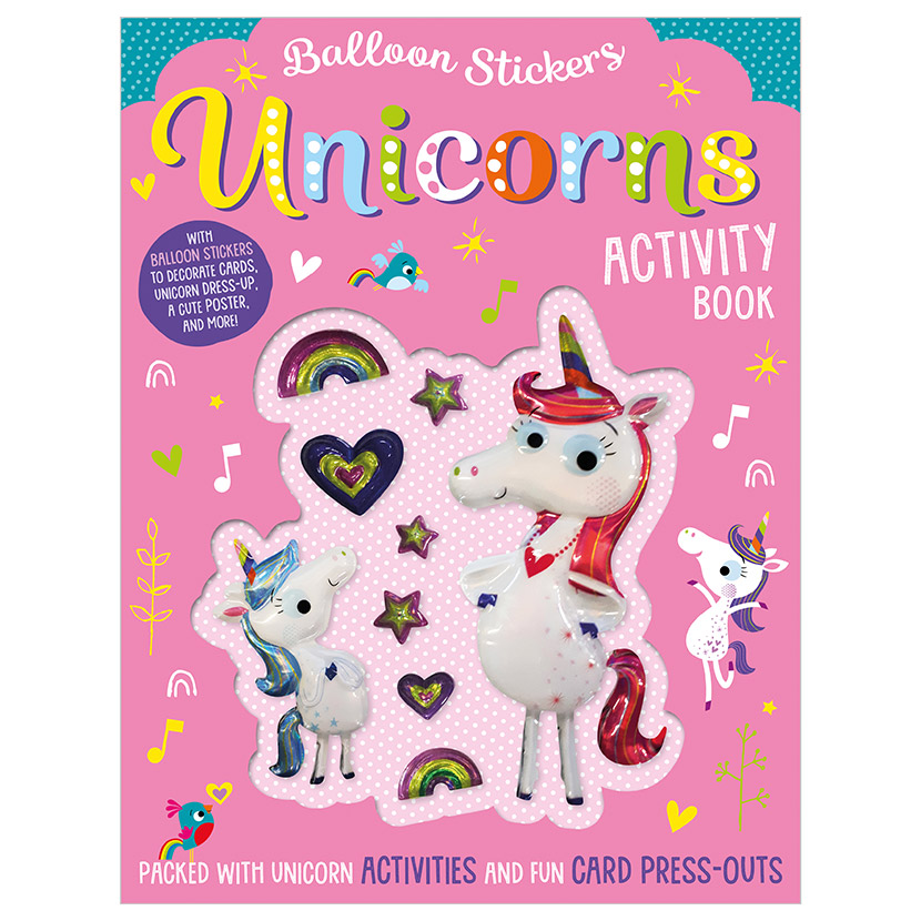 First Spread of Balloon Stickers Unicorns Activity Book (9781788437097)