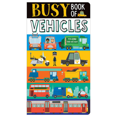 First Spread of Busy Book of Vehicles (9781788436991)