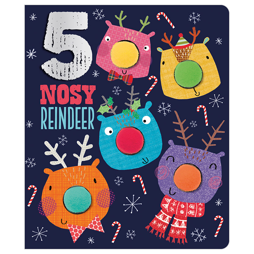 First Spread of Five Nosy Reindeer (9781789470956)