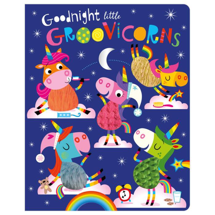 First Spread of Goodnight Little Groovicorns (9781788439923)