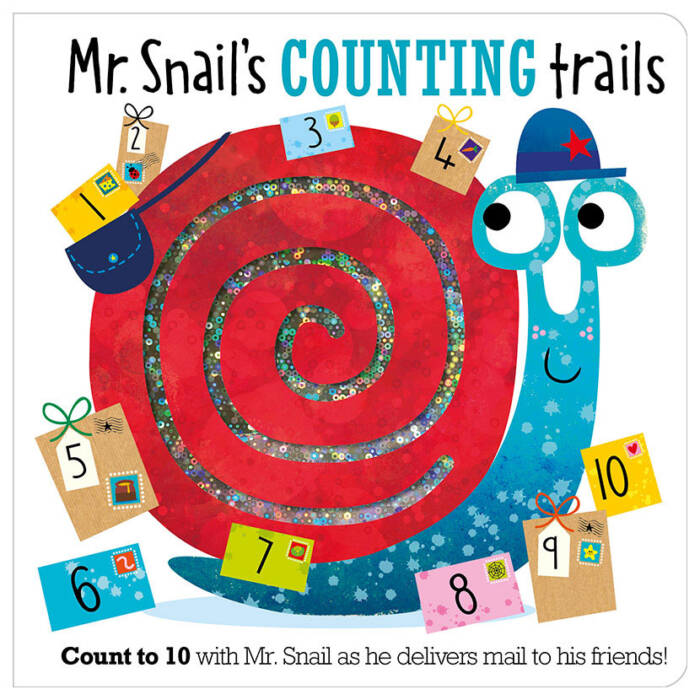 First Spread of Mr Snail's Counting Trails (9781786929204)