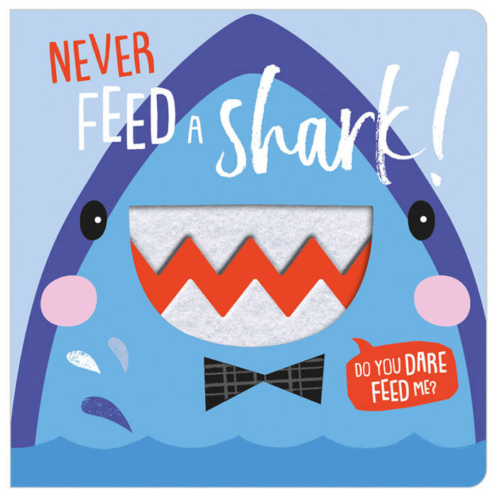 First Spread of Never Feed a Shark (9781788436847)