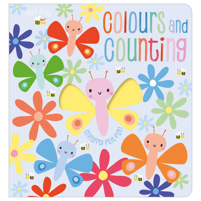 First Spread of Busy Bees Colours and Counting (9781788436861)