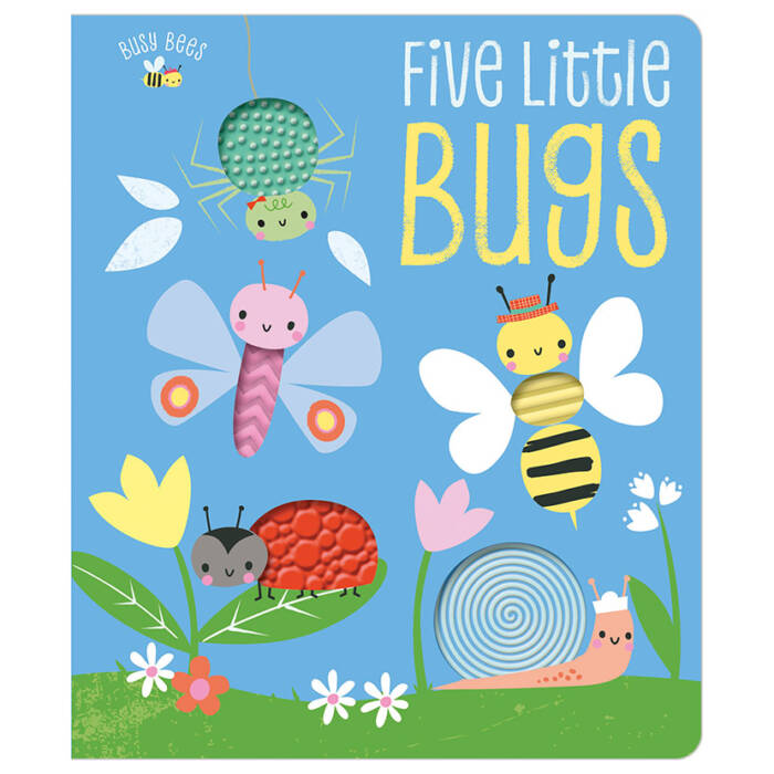 First Spread of Busy Bees Five Little Bugs (9781788436830)