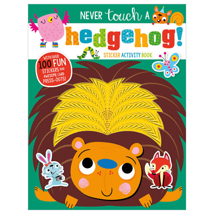First Spread of Never Touch a Hedgehog Sticker Activity Book (9781789477924)