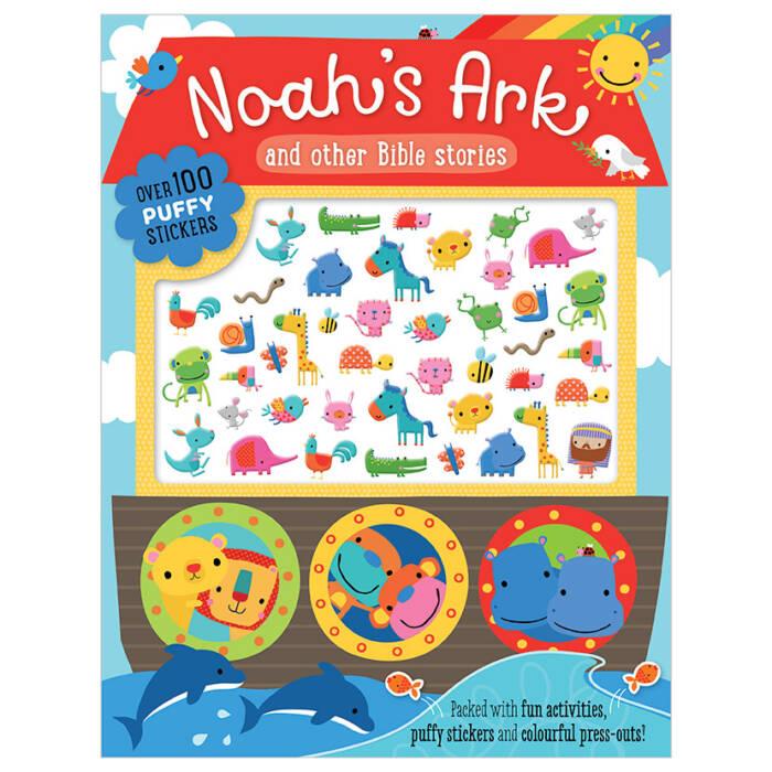 First Spread of Noah's Ark Puffy Sticker Book (9781788437141)