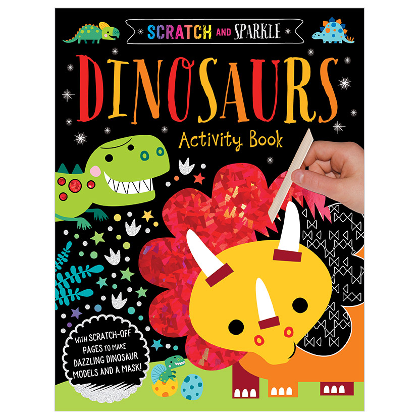 First Spread of Scratch and Sparkle Dinosaurs Activity Book (9781788437158)
