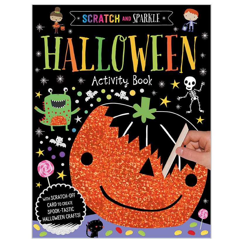 First Spread of Scratch and Sparkle Halloween Activity Book (9781789470475)