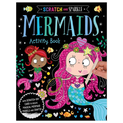 First Spread of Scratch and Sparkle Mermaids Activity Book (9781789470352)