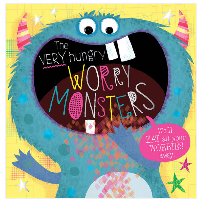 First Spread of The Very Hungry Worry Monsters (9781789470130)