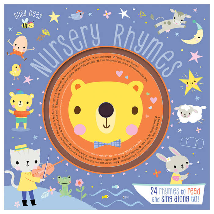 First Spread of Busy Bees Nursery Rhymes With CD (9781788438292)