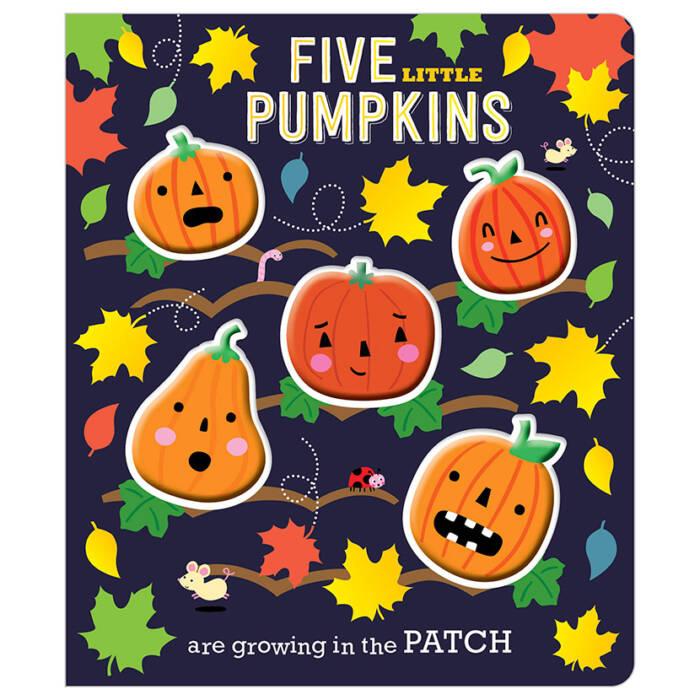 First Spread of Five Little Pumpkins (9781786922809)