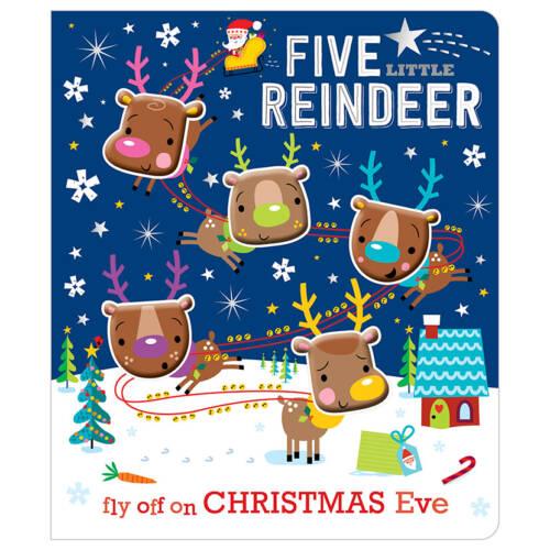 First Spread of Five Little Reindeer (9781786923059)