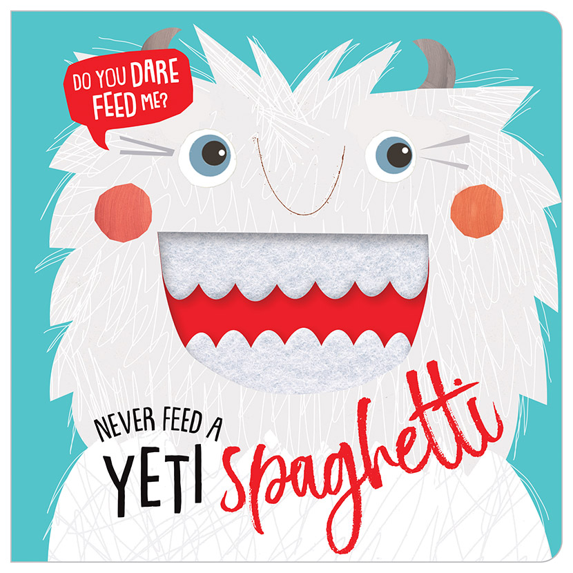 First Spread of Never Feed a Yeti Spaghetti (9781788432719)