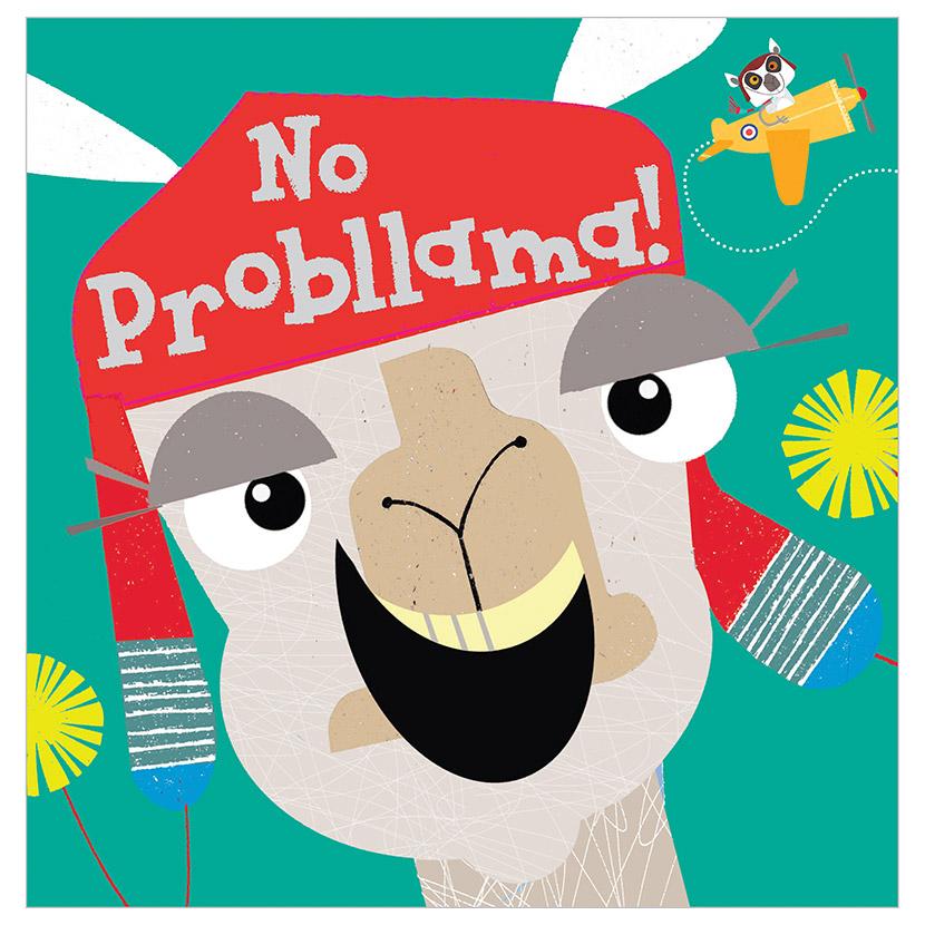 First Spread of No Probllama! (9781788432696)