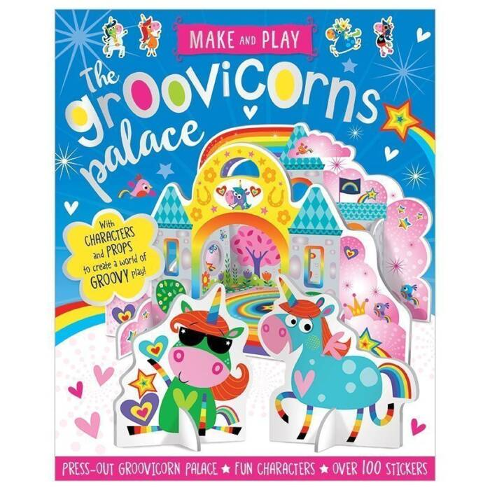 First Spread of Make and Play Groovicorns Palace (9781788432825)