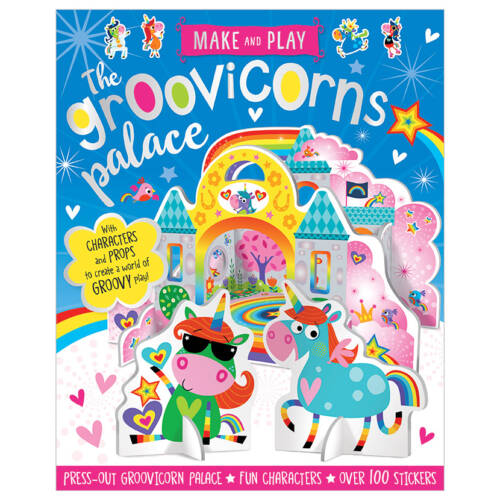 First Spread of Make and Play Groovicorns Palace (9781788433273)