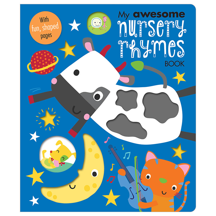 First Spread of My Awesome Nursery Rhymes Book (9781786929273)