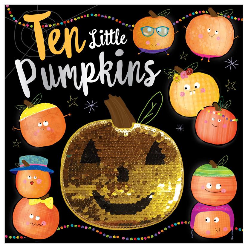 First Spread of Ten Little Pumpkins (9781788433068)