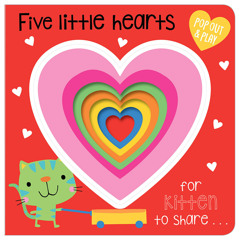 First Spread of Five Little Hearts (9781786929242)