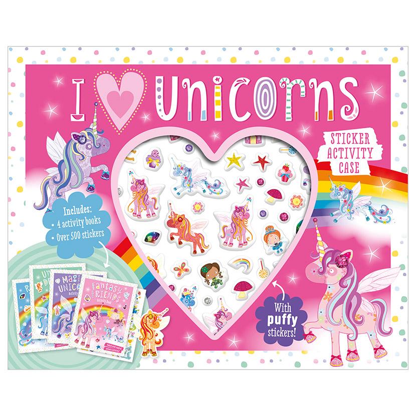 First Spread of I Love Unicorns Sticker Activity Case (9781800586628)