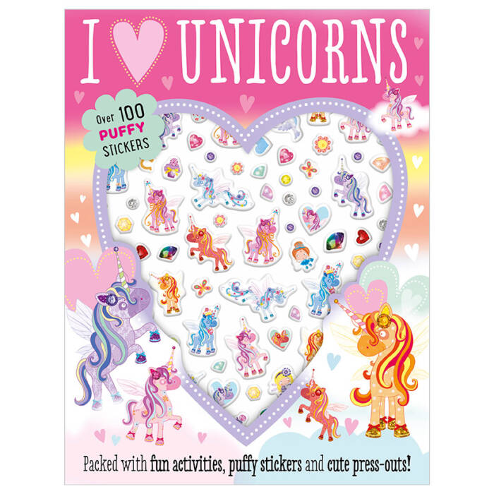 First Spread of I Love Unicorns (9781786928610)