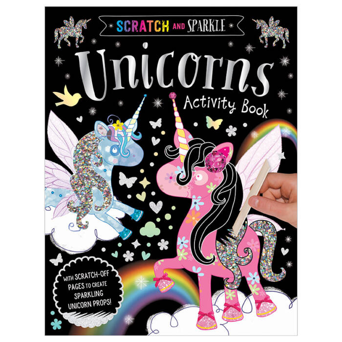 First Spread of Scratch and Sparkle Unicorns Activity Book (9781788432832)