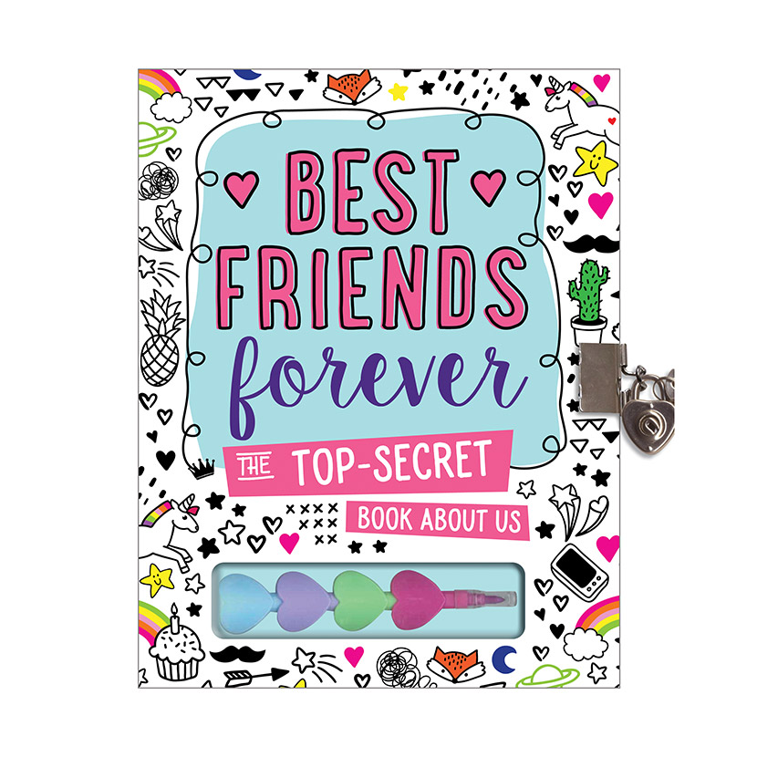 First Spread of Best Friends Forever Journal: The Top Secret Book About Us (9781786928665)