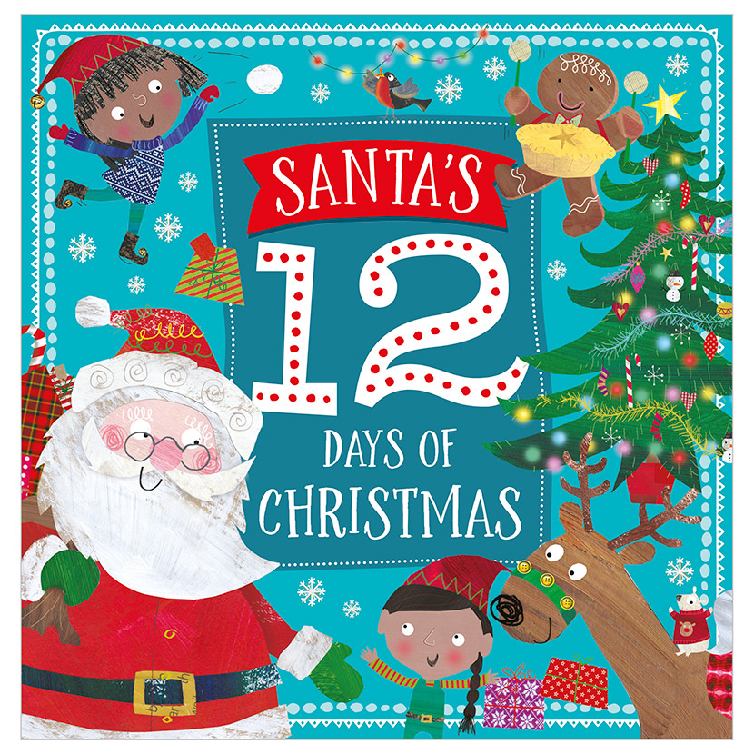 First Spread of Santa's 12 Days of Christmas (9781786922434)