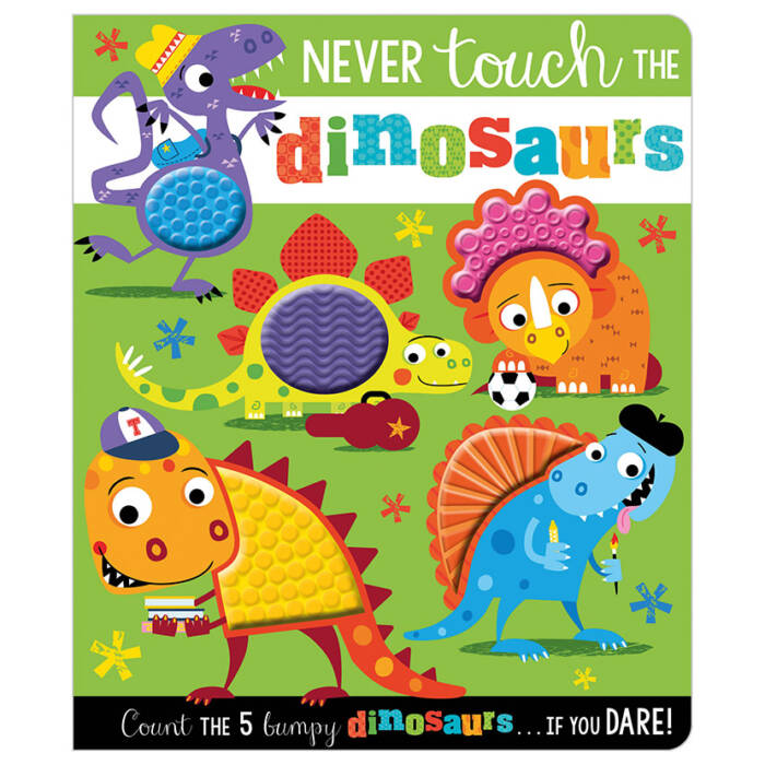 First Spread of Never Touch the Dinosaurs (9781788439848)