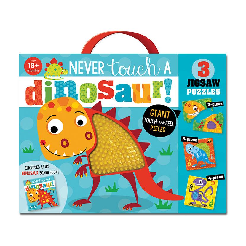 First Spread of Never Touch a Dinosaur Jigsaw (9781789474329)