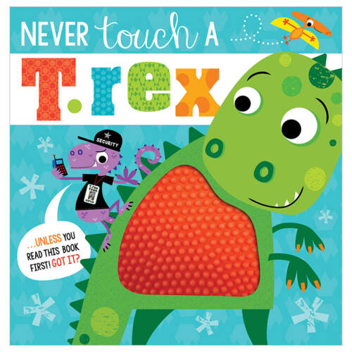 First Spread of Never Touch a T. rex! (9781789474022)
