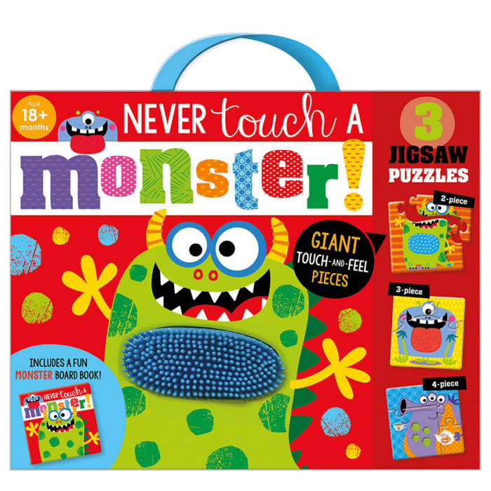 First Spread of Never Touch a Monster! Jigsaw (9781800580558)