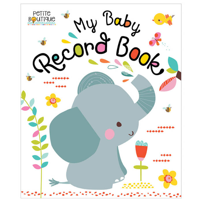 First Spread of Petite Boutique My Baby Record Book (9781786924360)