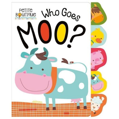 First Spread of Petite Boutique Who Goes Moo? (9781786921222)