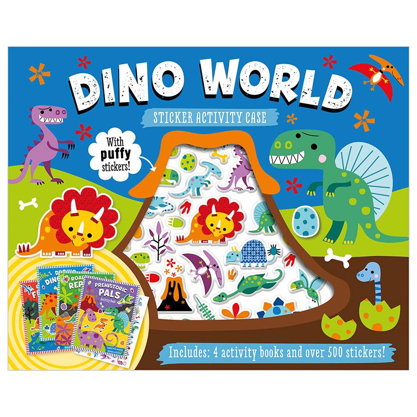 First Spread of Dino World Sticker Activity Case (9781800586703)