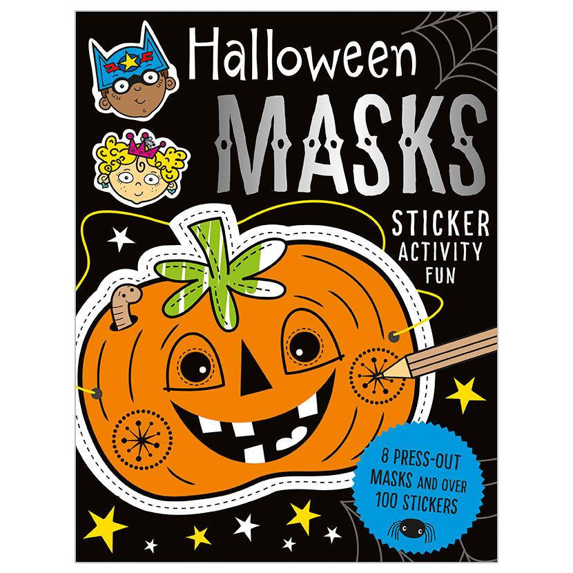 First Spread of Halloween Masks Sticker Activity Fun (9781786924742)