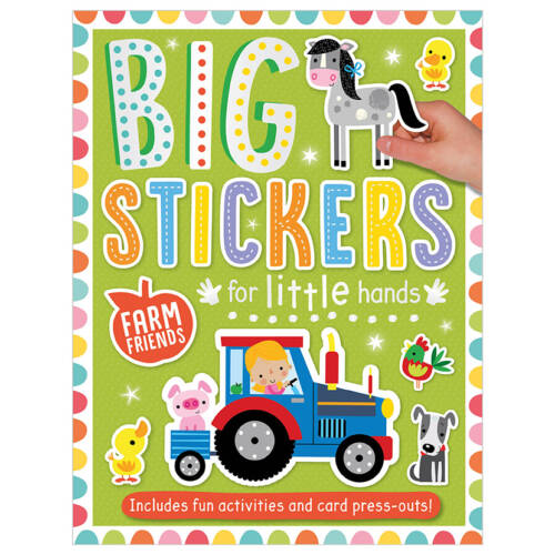 First Spread of Big Stickers for Little Hands Farm Friends (9781788430654)