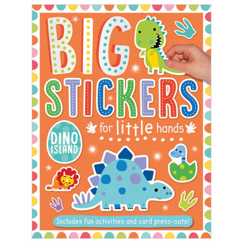 First Spread of Big Stickers for Little Hands Dinosaur Island (9781788430685)