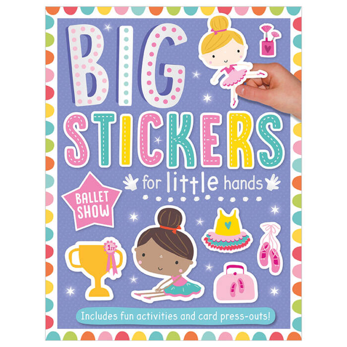 First Spread of Big Stickers for Little Hands Ballet Show (9781788430715)