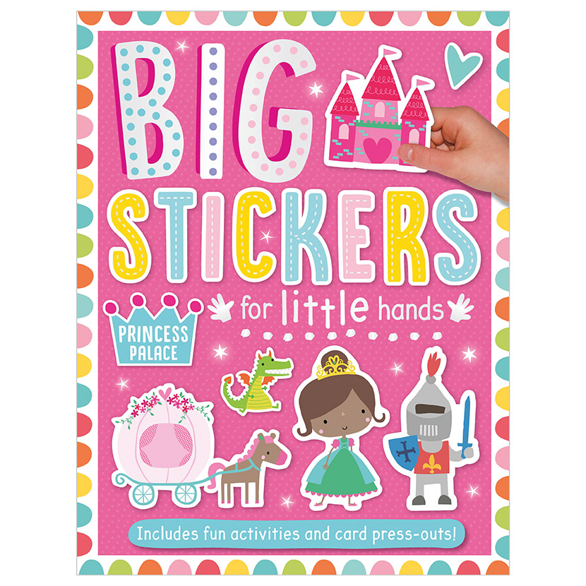 First Spread of Big Stickers for Little Hands Princess Palace (9781788430630)