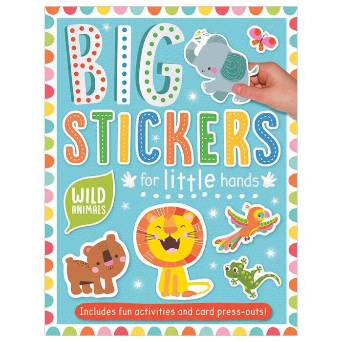 First Spread of Big Stickers for Little Hands Wild Animals (9781788430647)