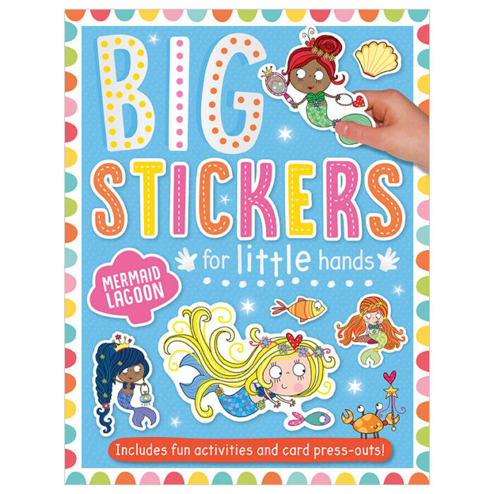 First Spread of Big Stickers for Little Hands Mermaid Lagoon (9781788430678)