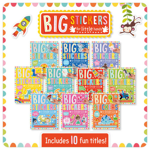 First Spread of Big Stickers for Little Hands Assortment x 10 (9781788431996)