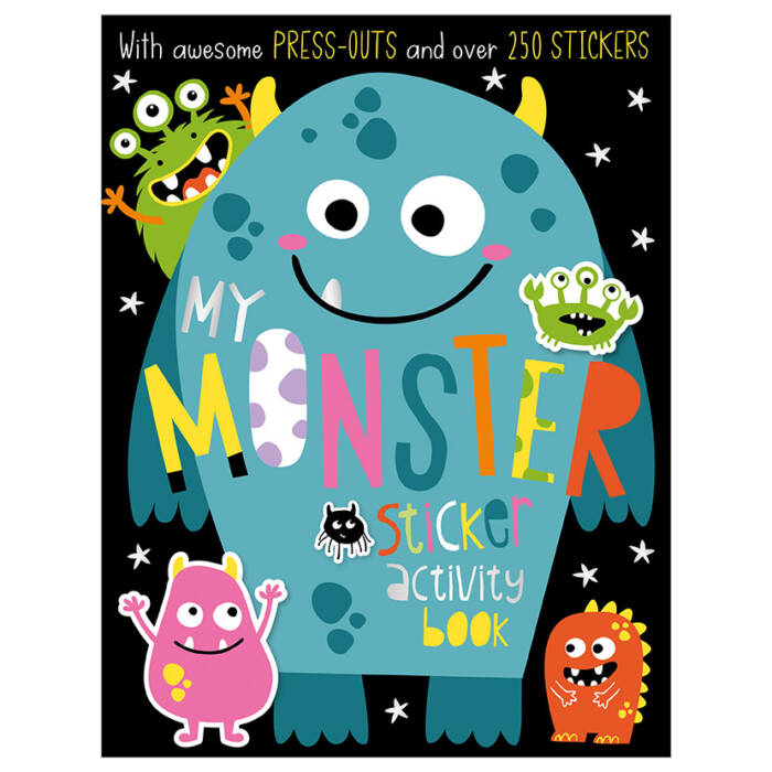 First Spread of My Monster Sticker Activity Book (9781788438926)