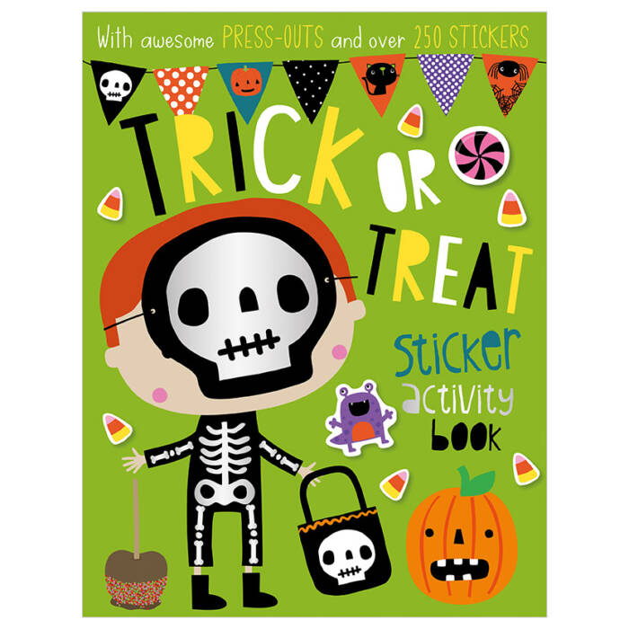 First Spread of Trick or Treat Sticker Activity Book (9781788439329)